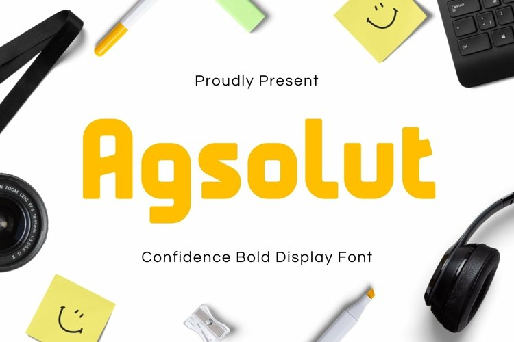 Web Font Agsolut Font example image 1