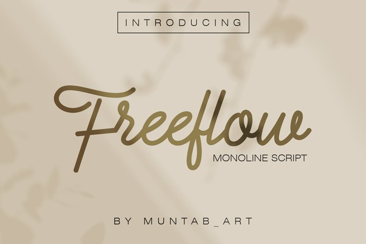 Freeflow Monoline Script example image 1