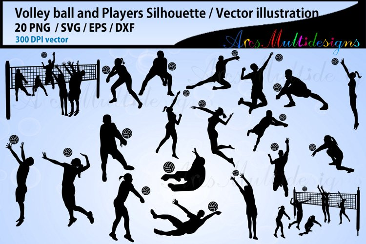 Volley ball , volley ball silhouette, volley ball svg example image 1