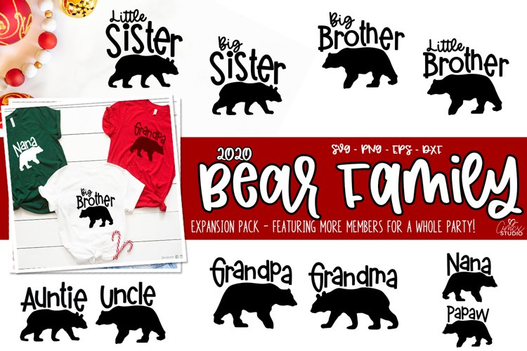 Bear Family Cut Files - Expansion Pack - Family Bear Designs