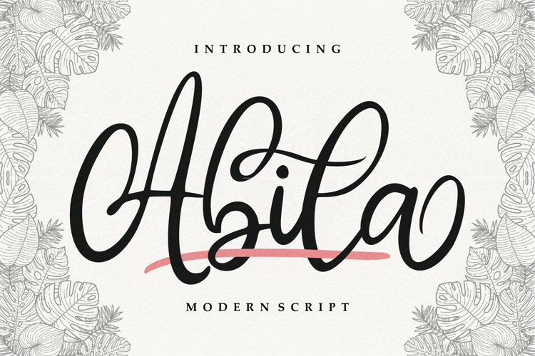 Abila | Modern Script example image 1