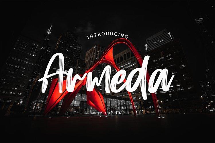 Armeda Brush Font example image 1