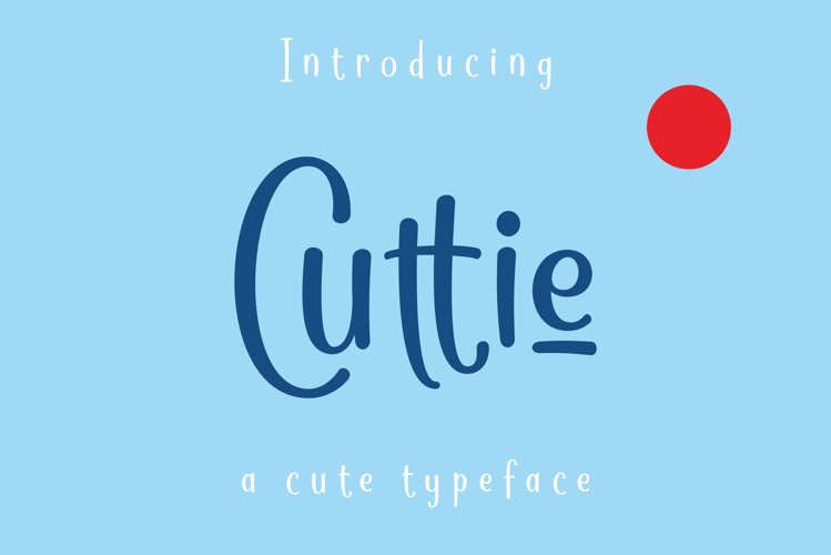 Cuttie - a cute typeface example image 1