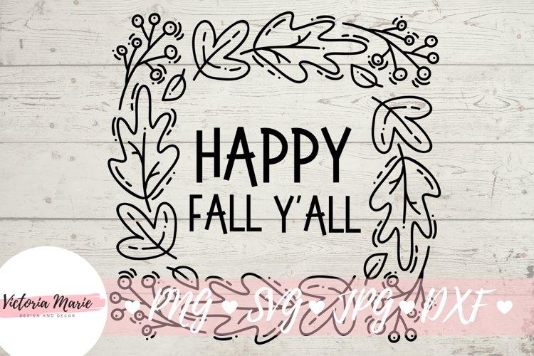 Happy Fall Yall svg, Happy Fall Yall, Happy Fall svg example image 1