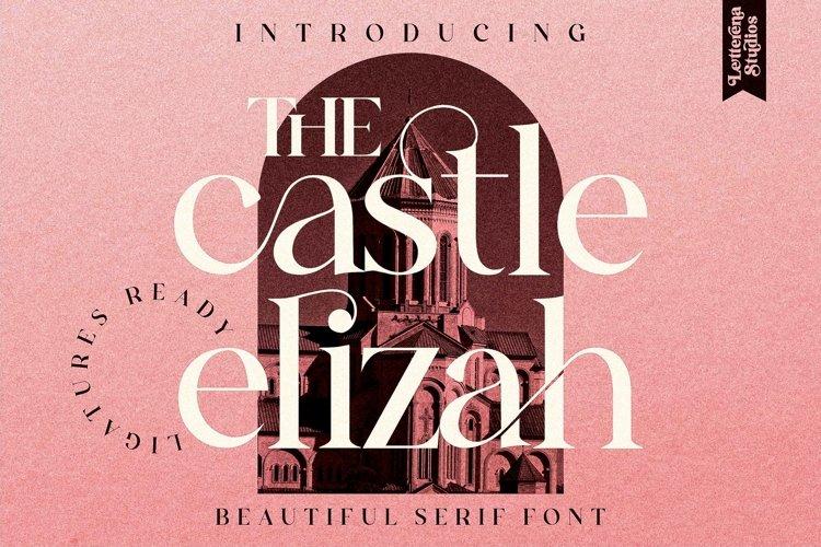 The Castle Elizah - Luxury and Beautiful Serif Font example image 1