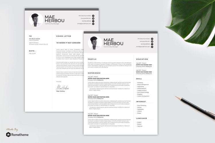 Clean Resume vol. 42 example image 1