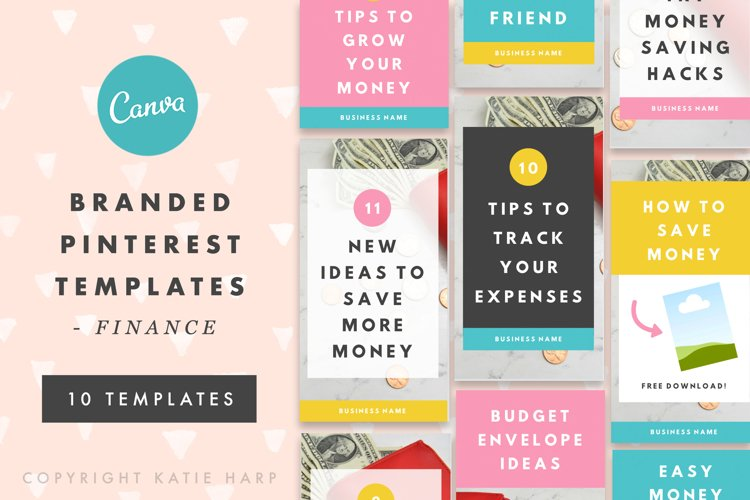 Pinterest Canva Templates - Finance