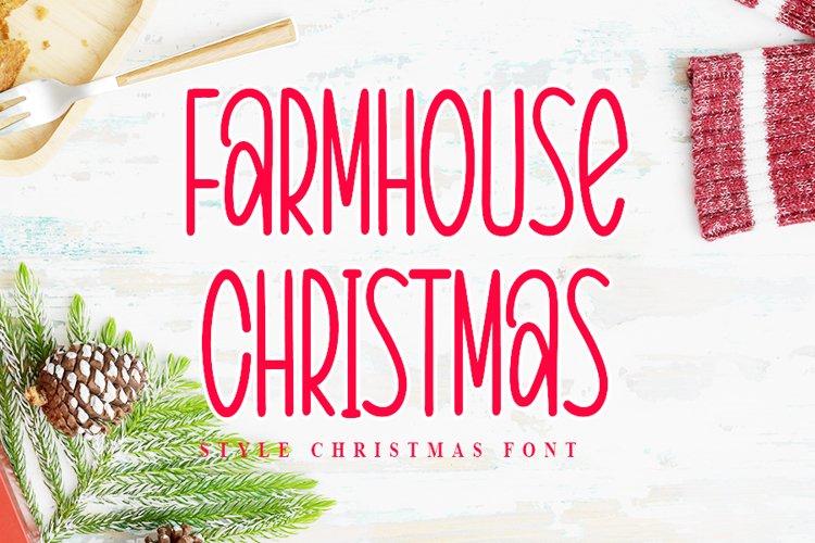 Farmhouse Christmas - Style Christmas Font example image 1