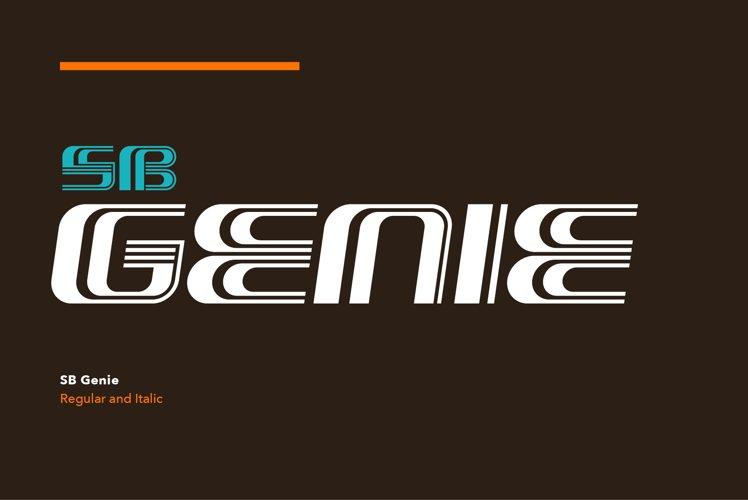 SB Genie - Op Art Font example image 1