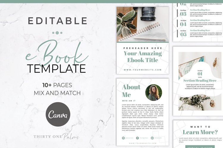 eBook Template for Canva | Lead Magnet | Sage example image 1