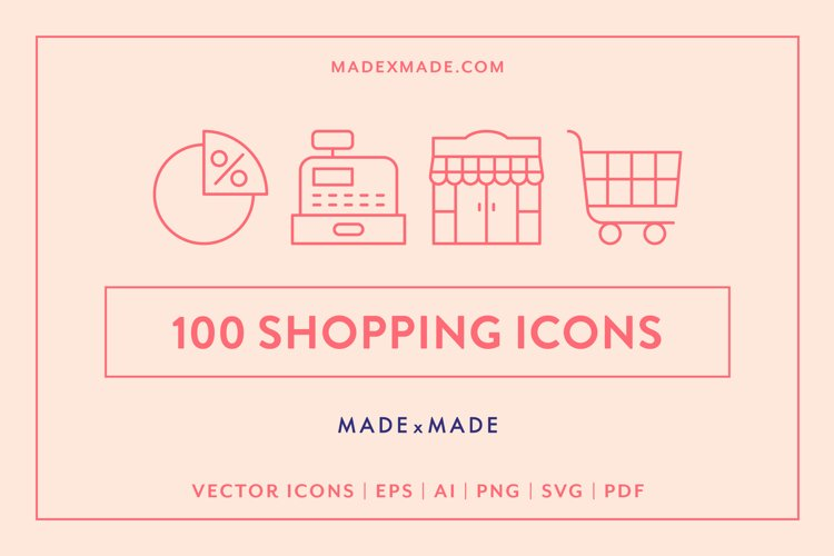 Line Icons - Shopping
