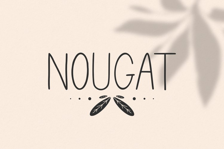 The Nougat Font example image 1