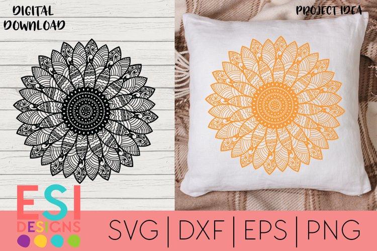 Sunflower Zentangle SVG | Paper Cutting Template