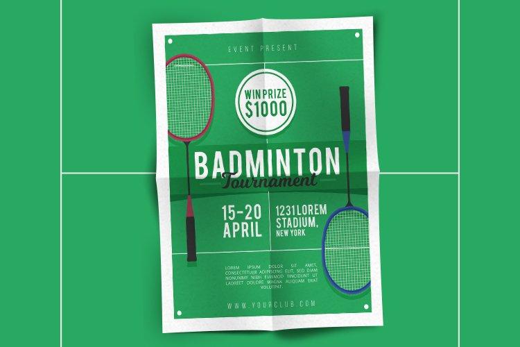 Badminton Tournament Flyer example image 1