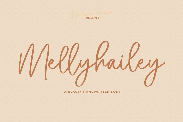 Melly Hailey Handwritten Font example image 1