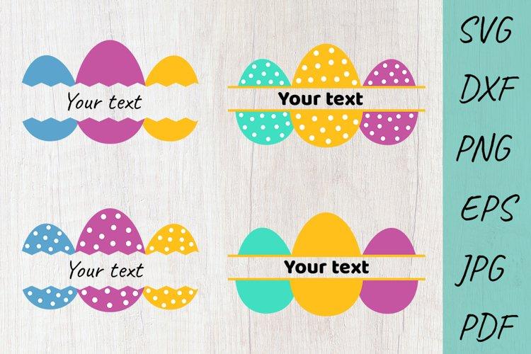 Easter Eggs monogram SVG, Bundle, Easter SVG Cut Files