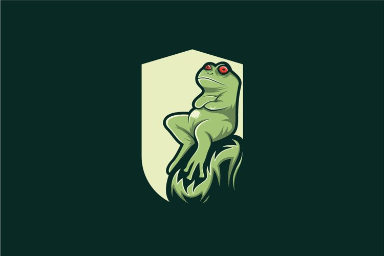 frog logo design vector example image 1