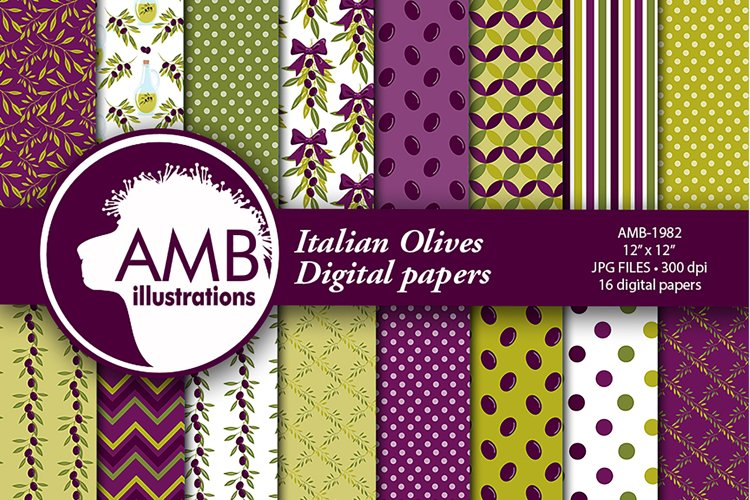 Italian Olive Patterns, Olive Papers, AMB-1982