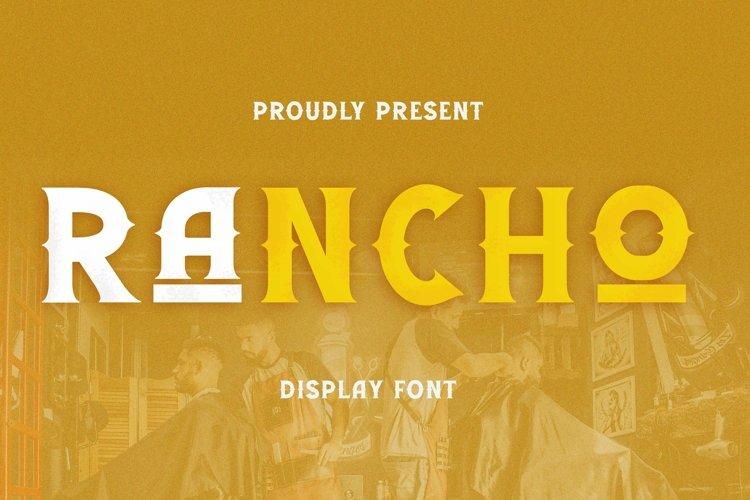 Web Font Rancho Font example image 1