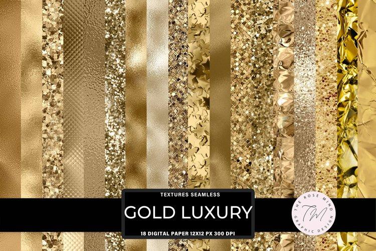 Gold digital paper, textures seamless