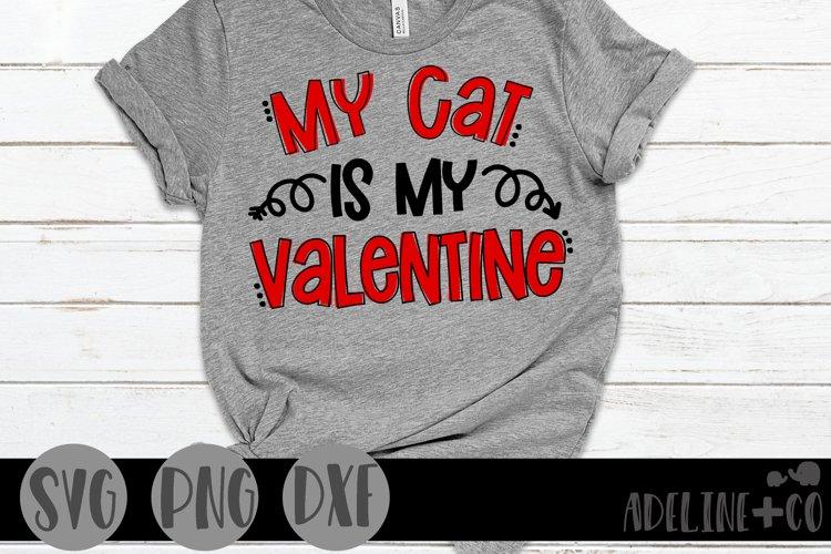 Download My Cat Is My Valentine 1126742 Cut Files Design Bundles