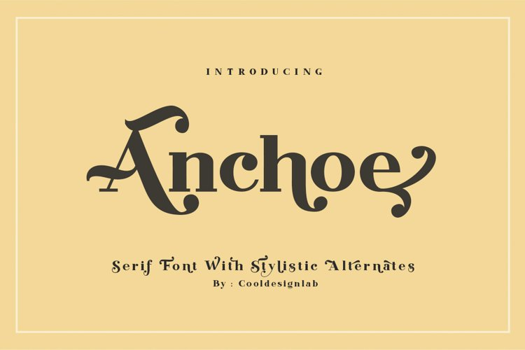 Anchoe Serif example image 1