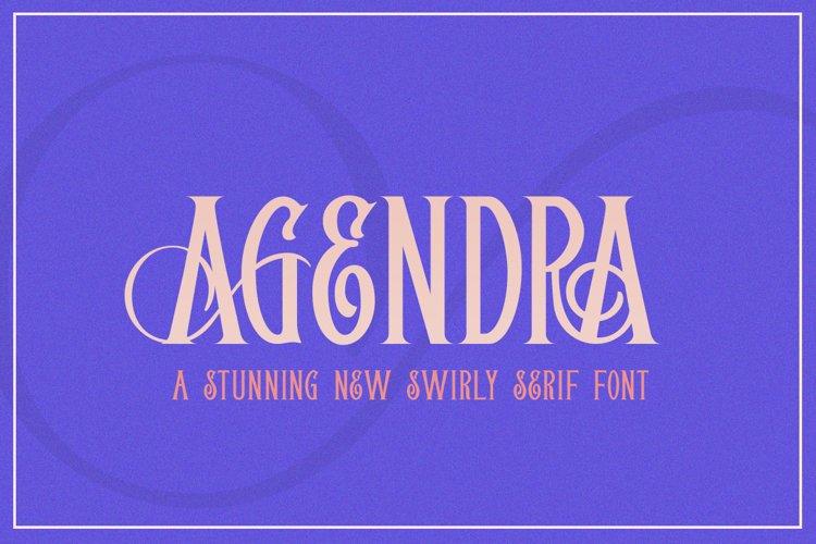 Agendra Serif Font example image 1
