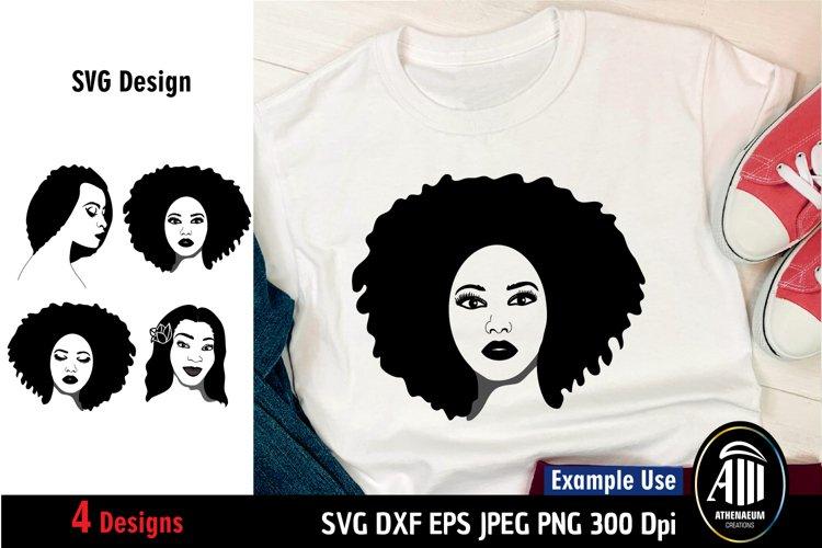 Black Woman SVG|Black Lives Matter SVG|Afro Woman|Black Mom