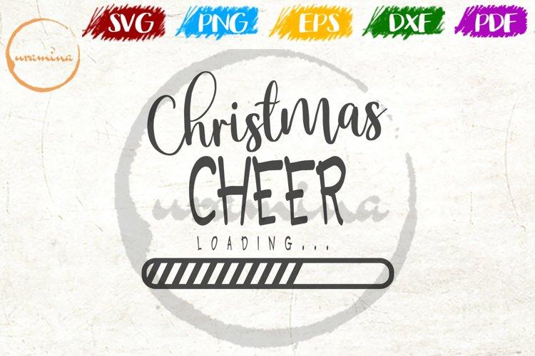 Christmas Cheer Loading Christmas Quote Art example image 1