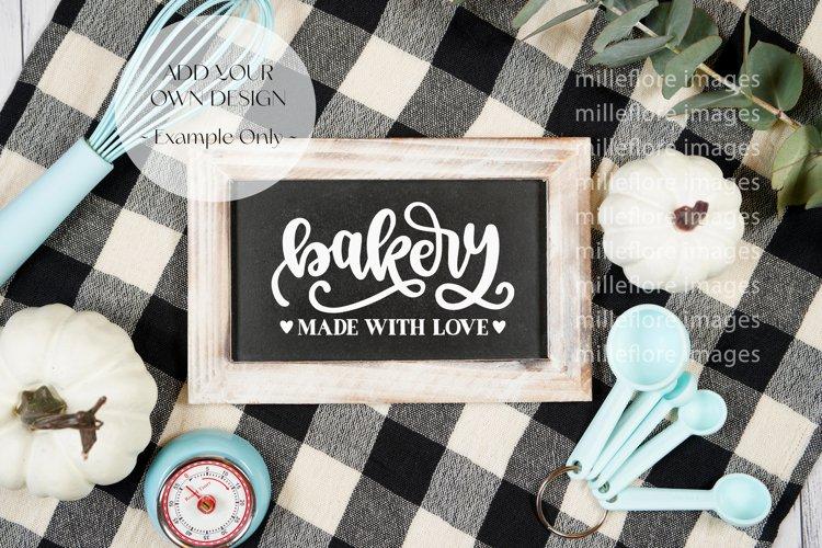 Farmhouse Kitchen Sign Flatlay Craft Mockups Styled Photo