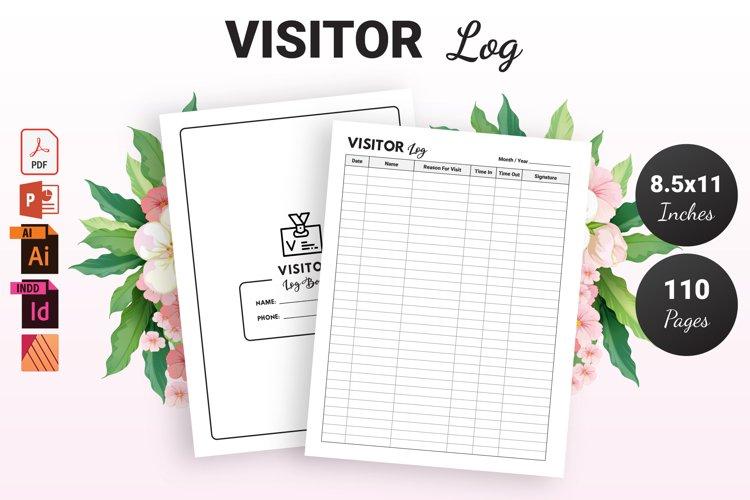 Visitor Log Book - KDP Interior