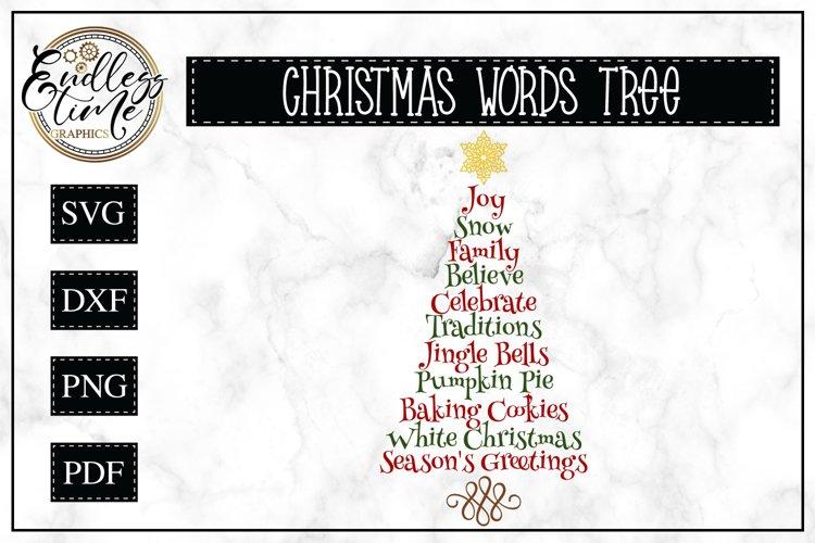 Christmas Tree Word Art | Christmas SVG example image 1