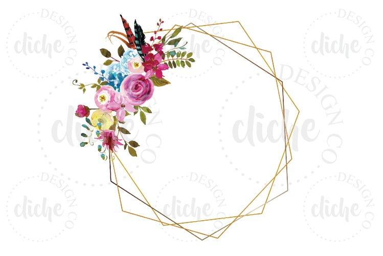 Geometric Floral Frame