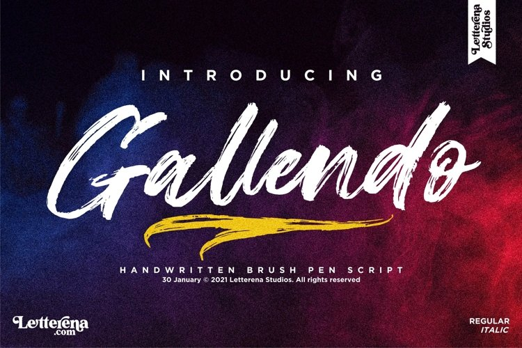 Gallendo - Strong Brush Font example image 1