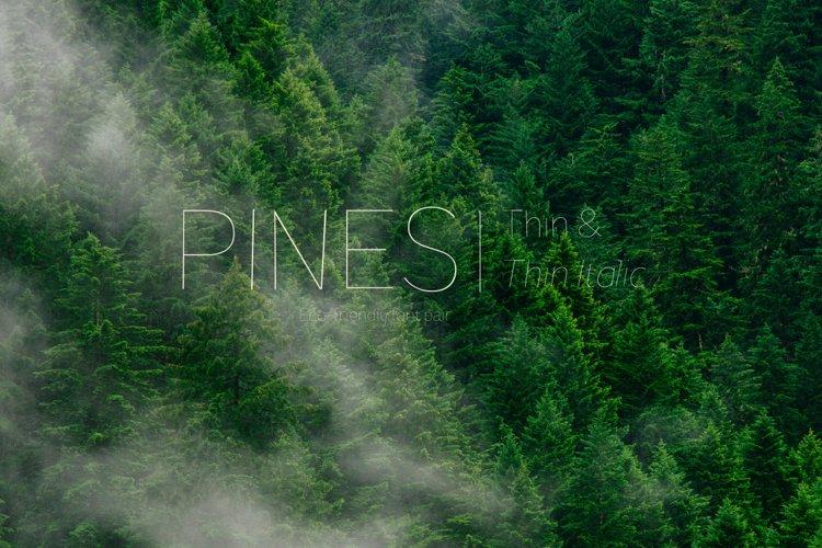Pines Thin & Pines Thin Italic  example image 1