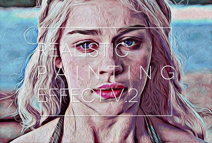 Realistic Digital Painting Effect 2.0