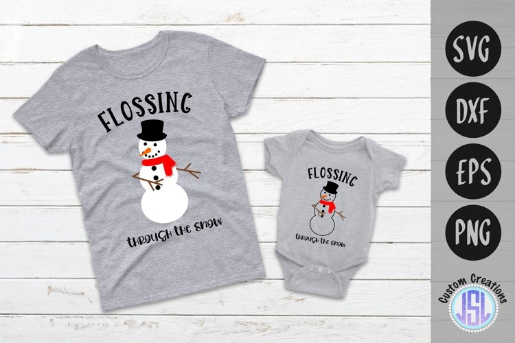 Flossing Snowman | Set of 2 | Christmas | SVG DXF EPS PNG example image 1
