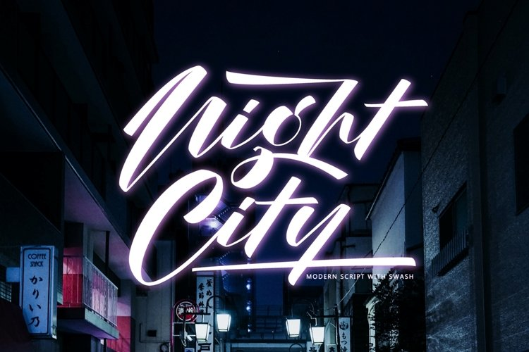 Night City - modern script example image 1