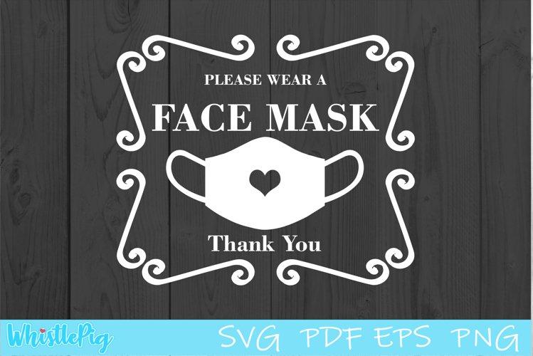 Download Please Wear A Mask Face Mask Sign Svg Face Mask Svg 747479 Cut Files Design Bundles