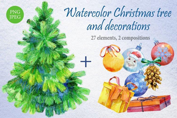 Christmas tree and decoration Christmas tree and decoration