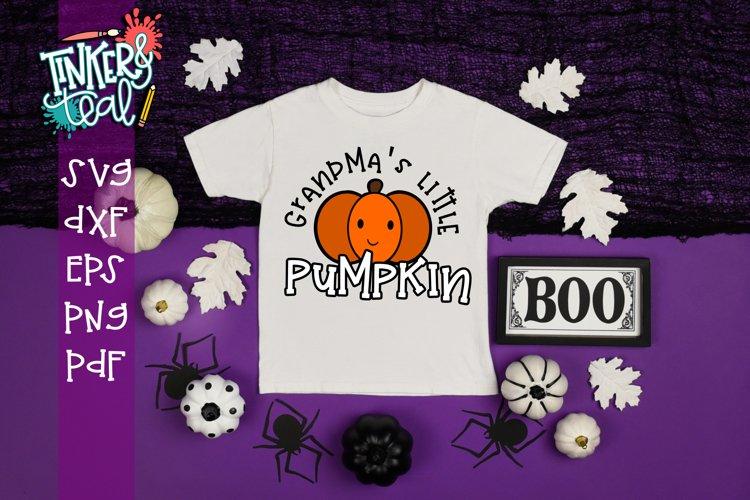 Grandma's Little Pumpkin Fall SVG example image 1