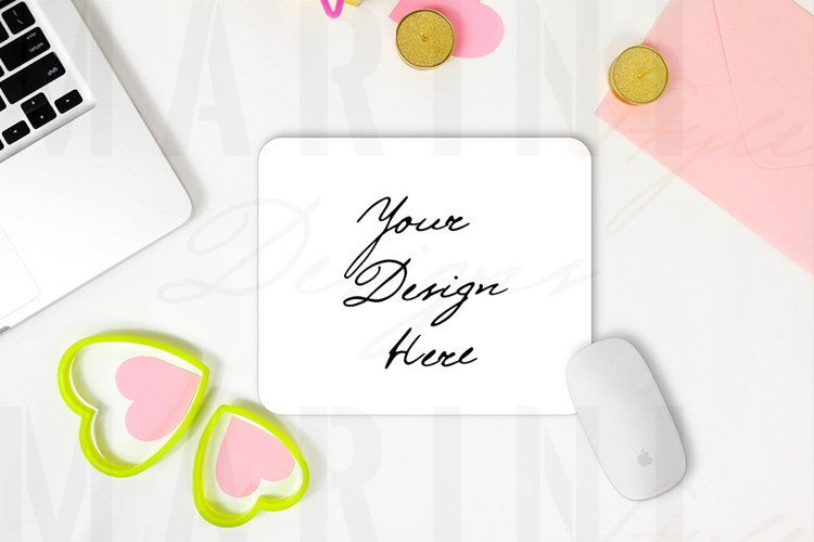 Valentines day Mouse pad Mockup, Rectangular Mouse Pad 1176