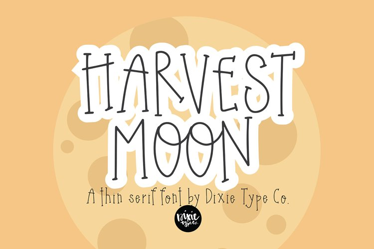 HARVEST MOON Thin Serif Font example image 1