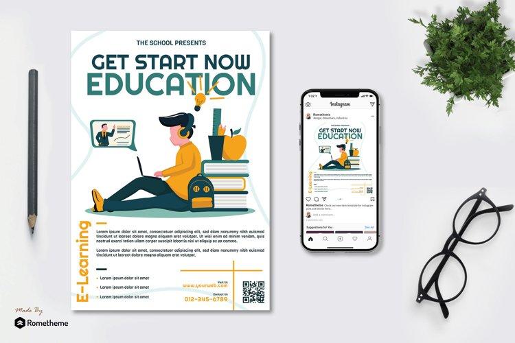 Online Education Flyer & Instagram vol.02 example image 1