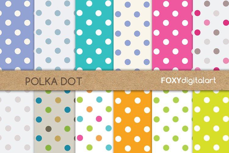 Digital paper polka dot wedding invitation diy scrapbook example image 1