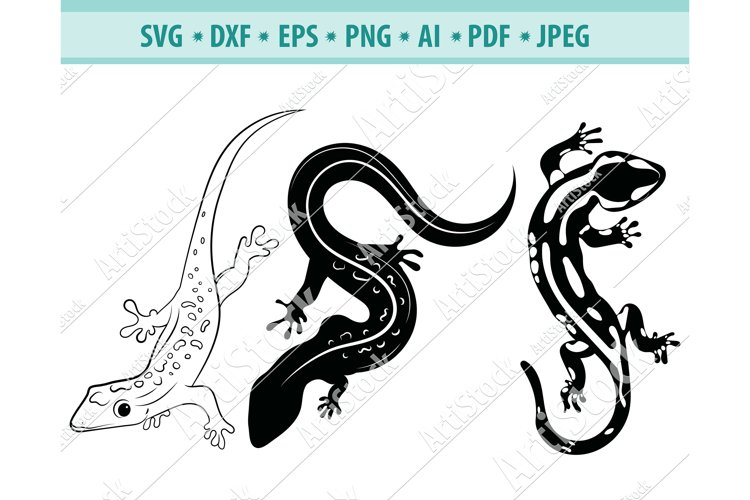 Lizard SVG, Lizard Clipart, Reptile Svg, Wild Dxf, Png, Eps