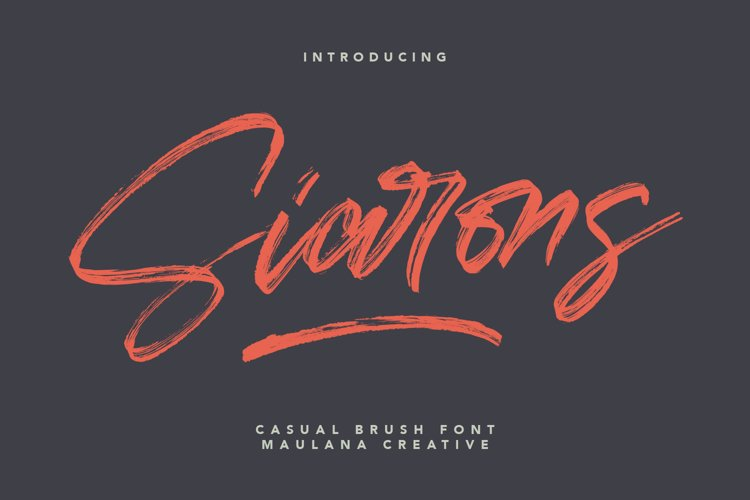 Siarons Casual Brush Font example image 1