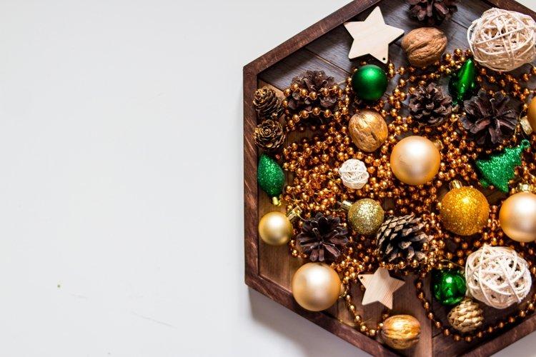 Winter holidays ornaments.