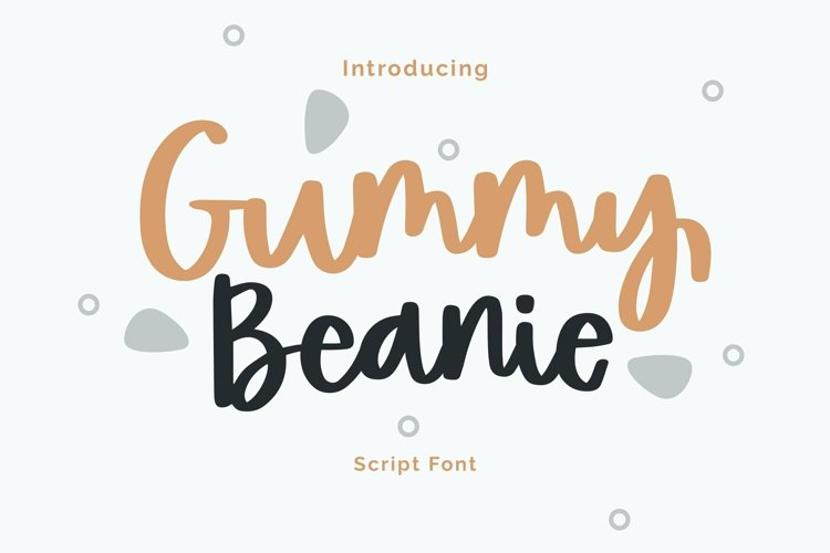 Web Font Gummy Beanie - Script Font example image 1