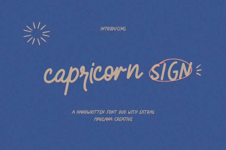 Capricorn Sign Handwritten Font Duo example image 1